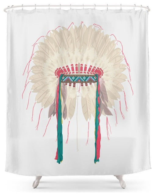 Society6 War Bonnet Shower Curtain