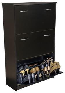 Triple Shoe Cabinet - Contemporary - Shoe Storage - by clickhere2shop