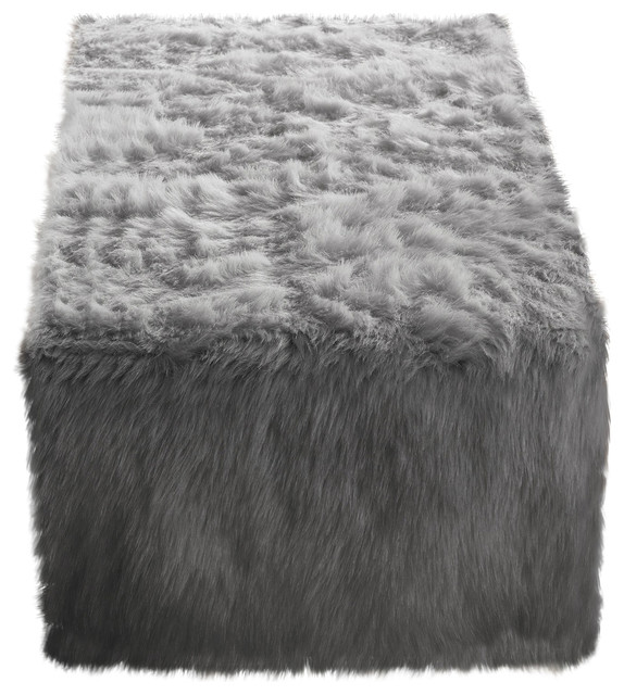 Juneau Faux Fur Table Runner Contemporary Runners By Fennco Styles Inc