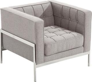 Lance Midcentury Tweed Armchair