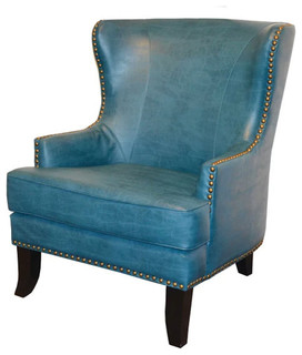 Study Leather Armchair - Traditional - Armchairs And ...