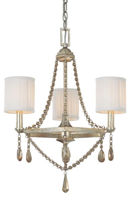 Capital Lighting Fifth Avenue 3-Light Chandelier, Winter Gold