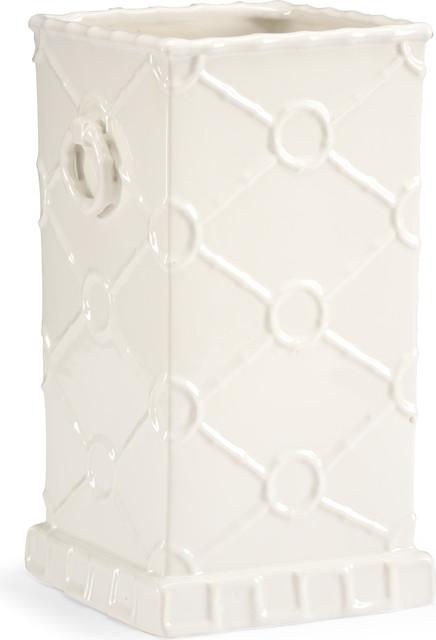 Square Ring Vase, Porcelain