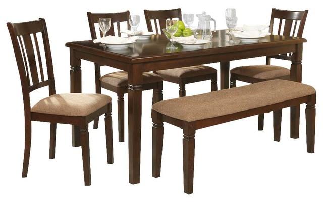 Homelegance Devlin 6-Piece Rectangular Dining Room Set in Espresso ...