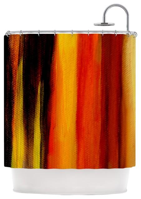 Theresa Giolzetti Firework Yellow Orange Shower Curtain