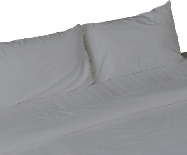 Egyptian Cotton Feel Cool Soft 4 Piece Sheet Deep Pockets Contemporary And Pillowcase Sets By Bluff City Bedding