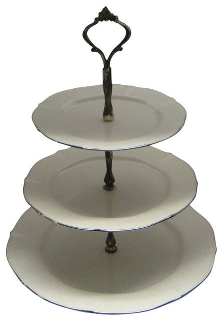 noritake chandon platinum 3tiered serving tray dp sp bb traditional