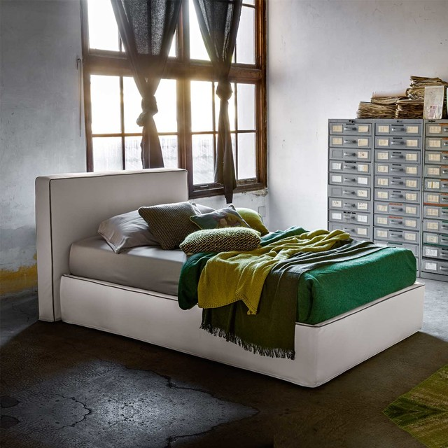 39 Brio 39 Upholstered Storage Bed With Headboard By Veneran Modern Divan Beds London By My
