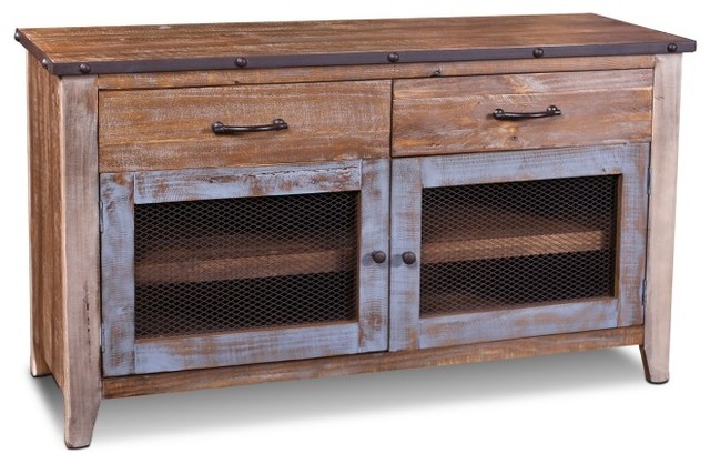 Image Result For Rustic Solid Wood Antique Finish Tv Stand Media Console