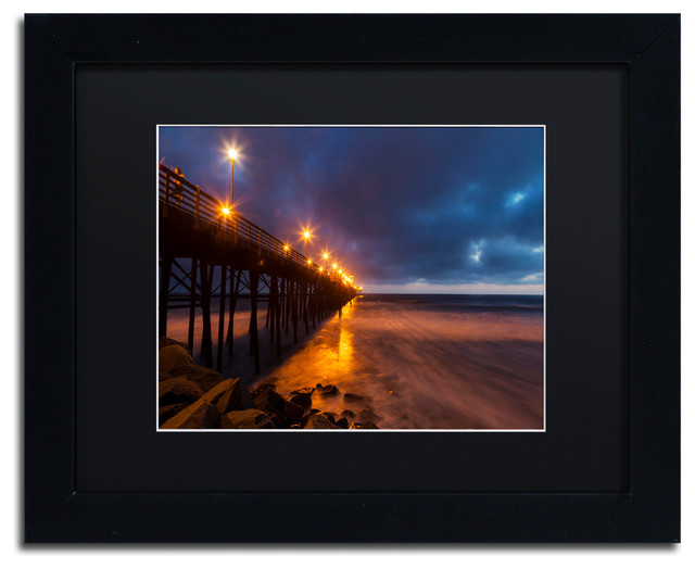 'Night Side' Matted Framed Canvas Art by Chris Moyer