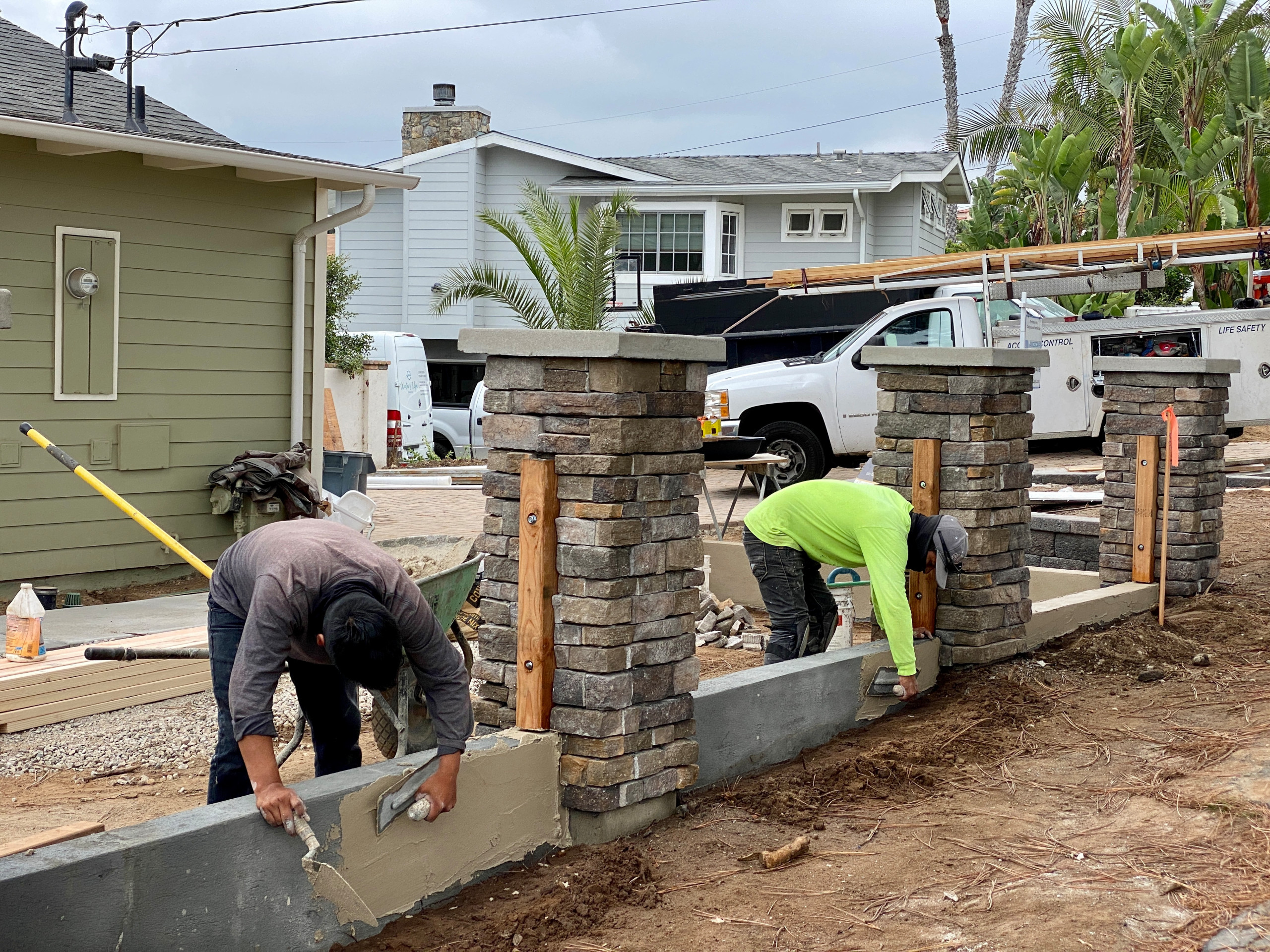 Adding Stucco to a Wall in Solana Beach
