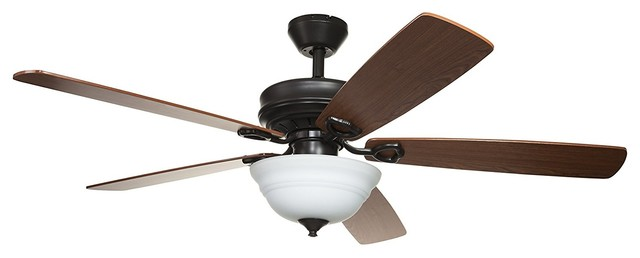 52 Ceiling Fan With Remote Control, Brown Ceiling Fan.