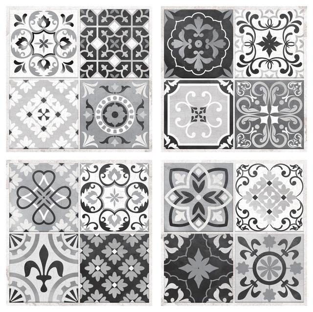 StickTILES Gray Spanish Mosaic Peel and Stick, Sample
