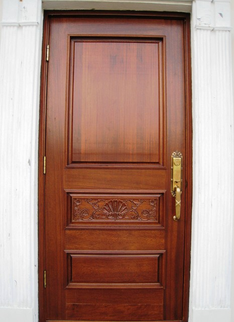 Single mahogany carved entry door tropical front doors for Exterior doors miami