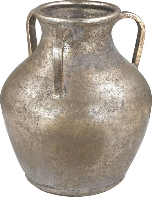 Metal Water Jug Vase Traditional Vases By Hedgeapple