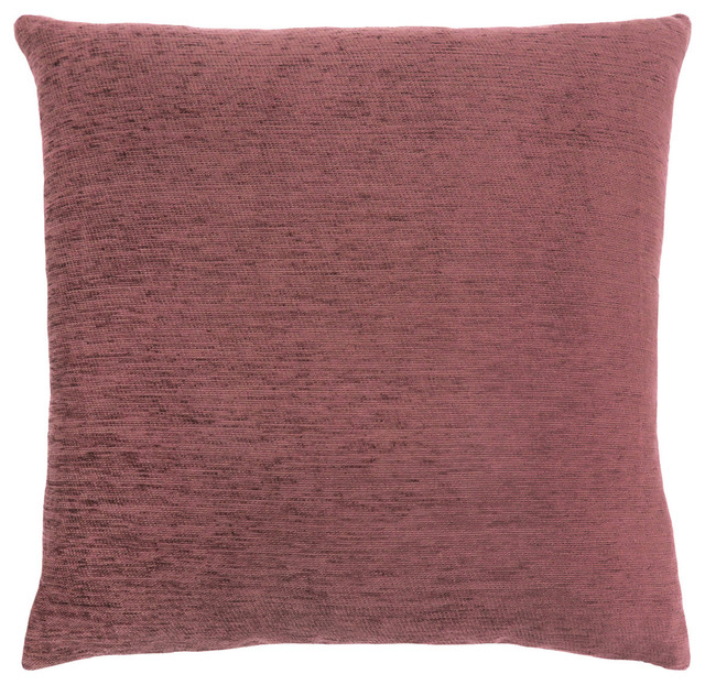 "18""x18"" Solid Tan Pillow, Dusty Rose, Single Pillow."
