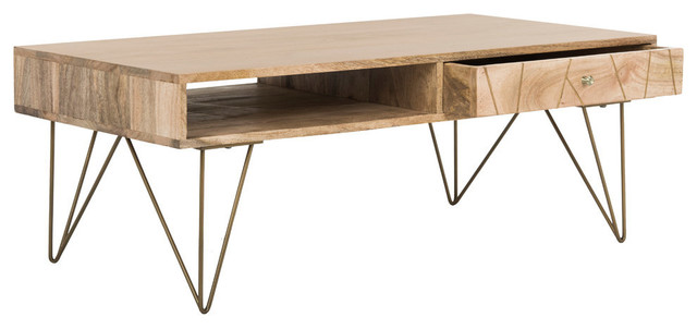 Safavieh Marigold Coffee Table, Natural, Mango Wood.
