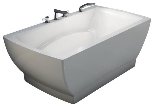 """66""""x34"""" Believe Freestanding Bathtub, Soaker."""