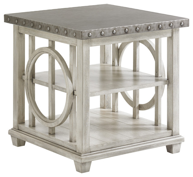Lexington Oyster Bay Lewiston Square End Table Transitional Side Tables  And End