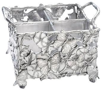 Arthur Court Designs Butterfly Flatware Caddy.