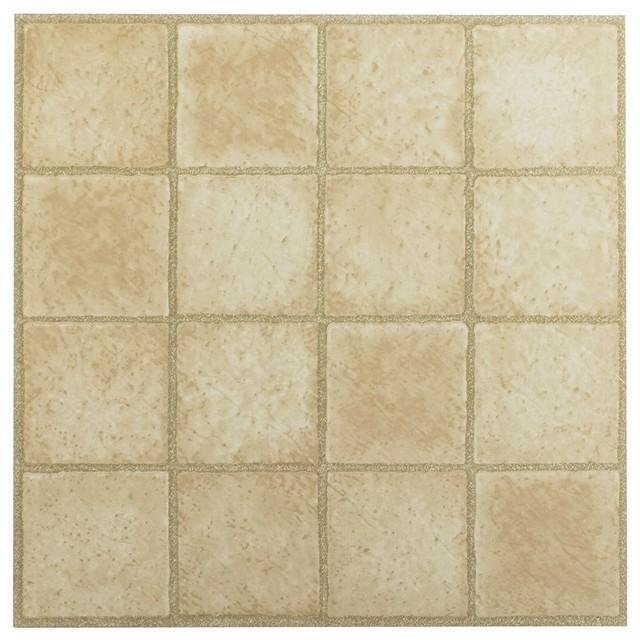 Square Sandstone X Self Adhesive Vinyl Floor Tiles - 2x2 vinyl floor tile