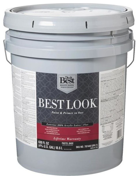 Best Look 100 Acrylic Latex Paint And Primer In 1 Flat