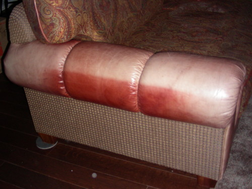 Faded Leather Furniture