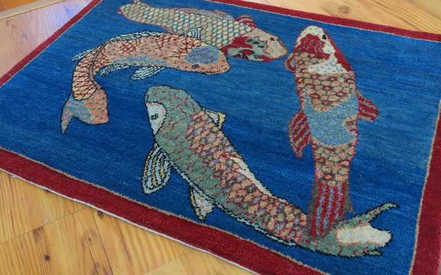 Koi Fish Rug Emailsave