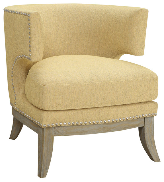 Coaster Accent Chair, Bumblebee Yellow Finish