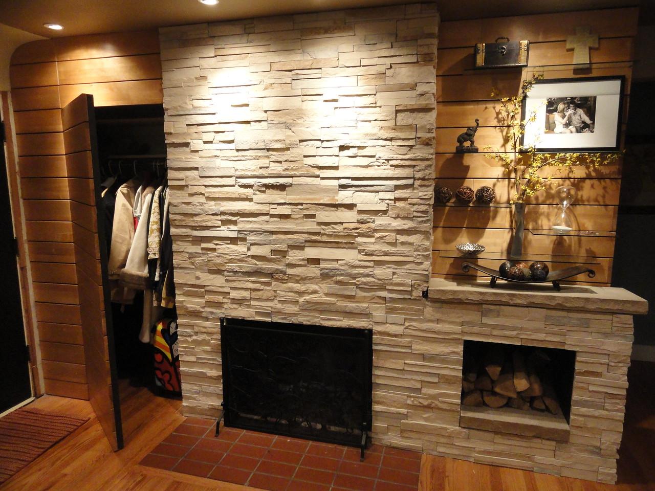 Mid Mod Fireplace
