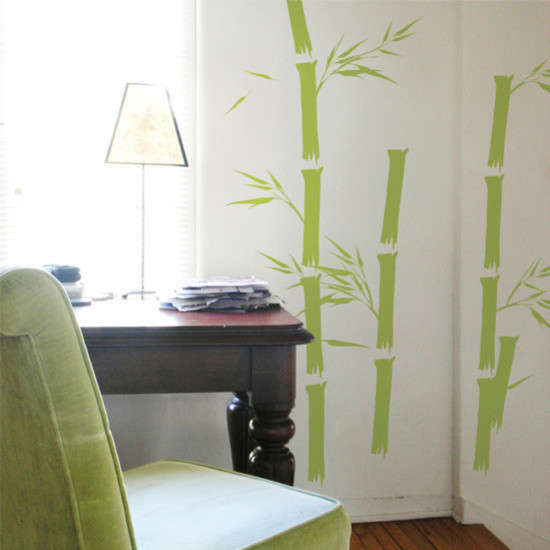 Bamboo Wall Stickers, 22 Piece Set Contemporary Wall Decals Part 95