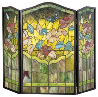 "Meyda Lighting 40""W X 34""H Butterfly Folding Fireplace Screen"