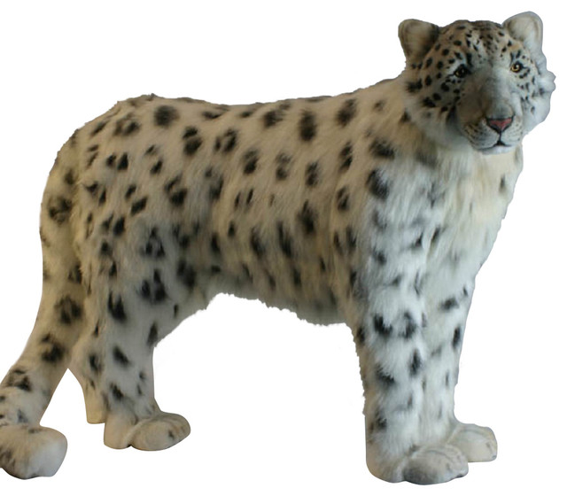 Standing Snowleopard Stuffed Animal Contemporary Baby And Kids