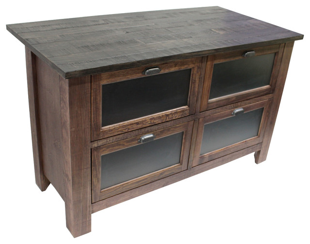 Emerson Kitchen Island, Rustic Walnut.