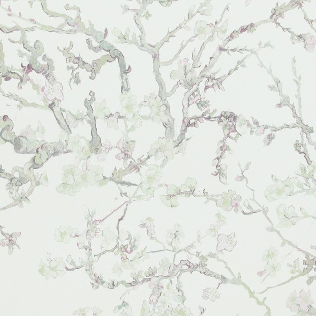 Blossoming Almond Trees Wallpaper, Pastel, Double Roll.