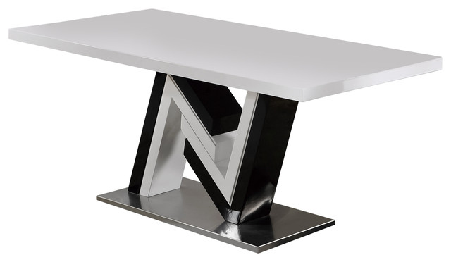 Global Furniture Modern High Gloss Lacquered Dining Table
