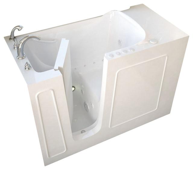 """26""""x53"""" Meditub Walk-In Ada Bathtub, Right, Air Massage System."""