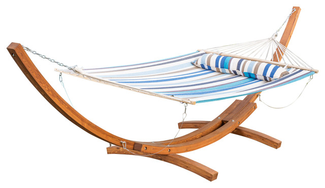 anthony canvas hammock with stand beach style hammocks and swing chairs gdfstudio   anthony canvas hammock with stand   view in your room      rh   houzz