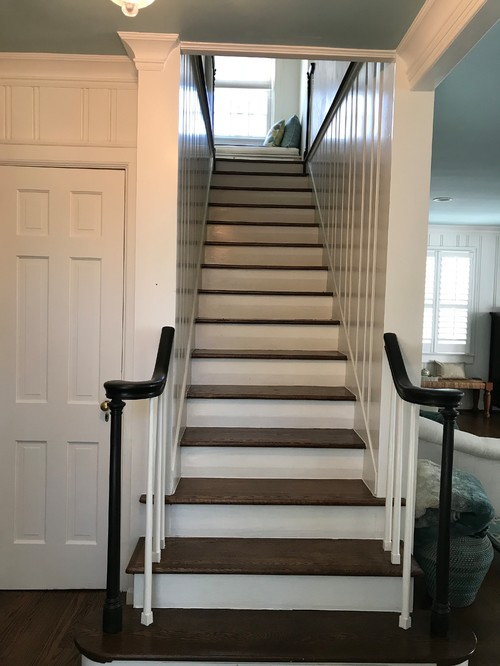 Narrow Stairs, No Railing Now. What To Do?