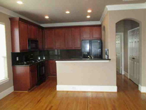 Mismatched Wood And Cabinets In Open Kitchen/living Area   Help!