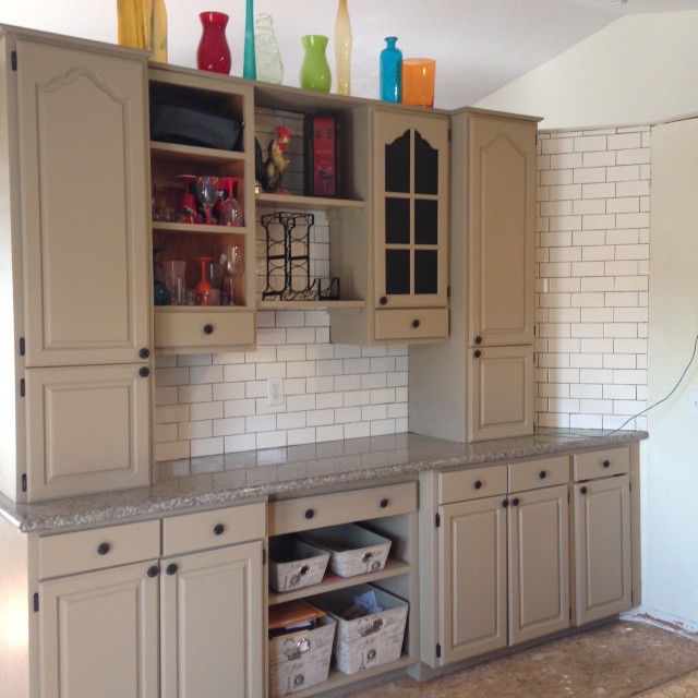 Contemporary Kitchen Cabinets With Reclaim In Linen