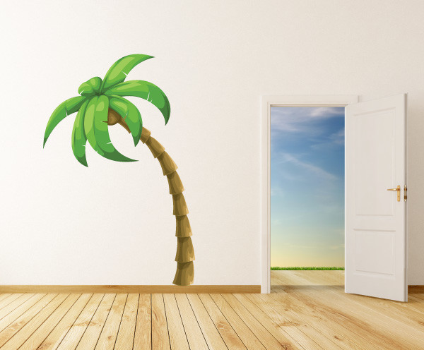 Captivating Palm Tree Vinyl Wall Decal PalmTreeUScolor001; 10 In. Contemporary Wall  Decals Nice Design