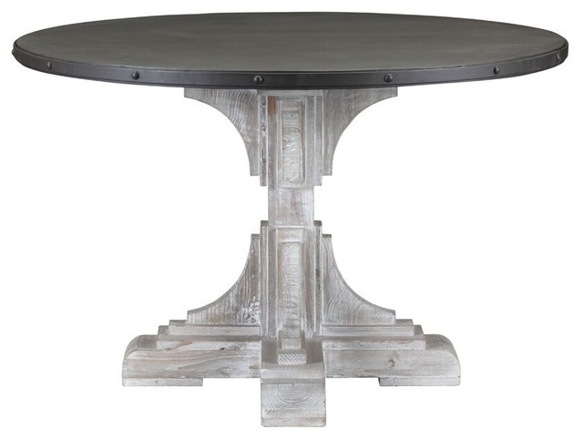 serrano white wash round table dining tables by boraam