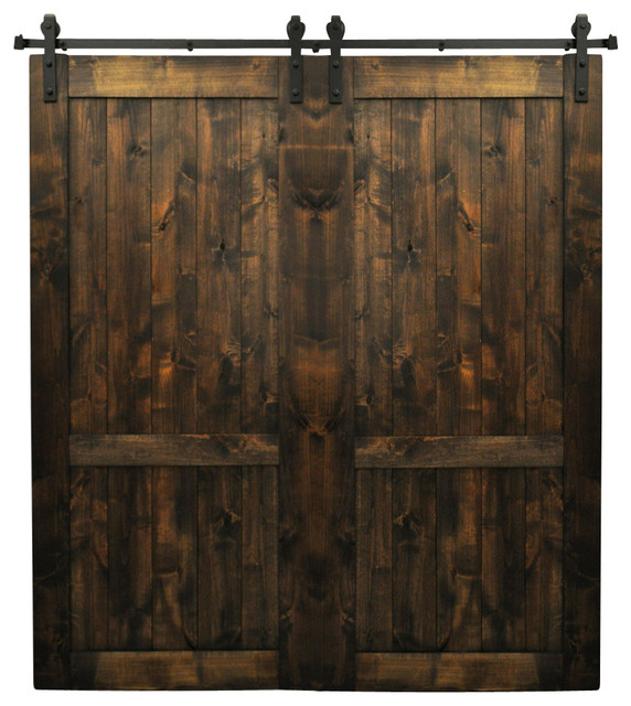 Dogberry Drawbridge Double Barn Doors Aged Oak