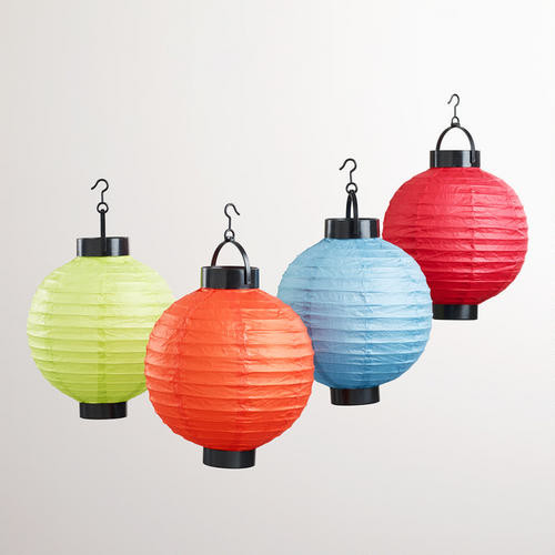 Multicolored Battery-operated Paper Lanterns