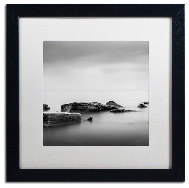 'Calm' Matted Framed Canvas Art by Dave MacVicar