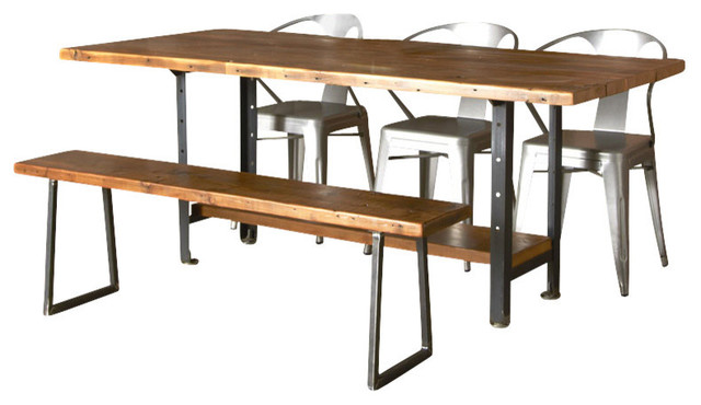 Delightful Machine Age Reclaimed Wood Dining Table, Thick, 60x30 Dining Tables