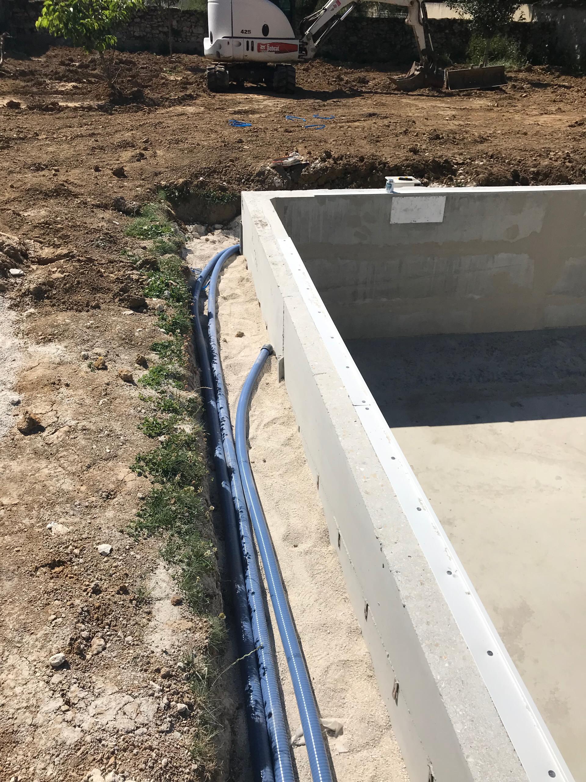 Construction piscine (Lésigny)