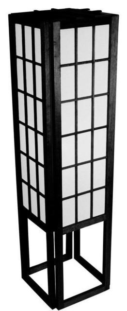 "45"" window pane shoji lamp - traditional - floor lamps -"