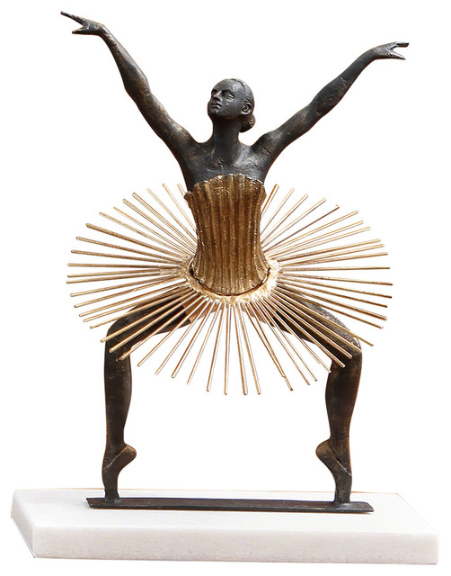 Bauhaus Grande Plie - Eclectic - Sculptures - by GLOBAL VIEWS and ...